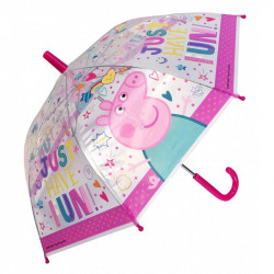 Paraply Peppa Pig transparent 38 cm