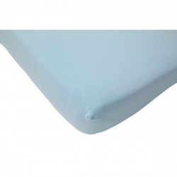 Fitted Sheet Jersey 60x120cm Blue