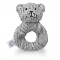 Skallra, natural knit bear grey