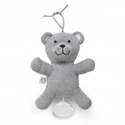 Speldosa Natural knit bear grey