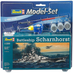 Model Set Battleship Scharnhorst 1:1200