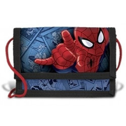 Spiderman Eyes wallet with safety string