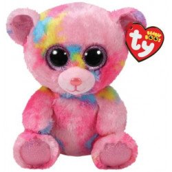 TY Beanie Boos FRANKY - pink multicolored bear reg.
