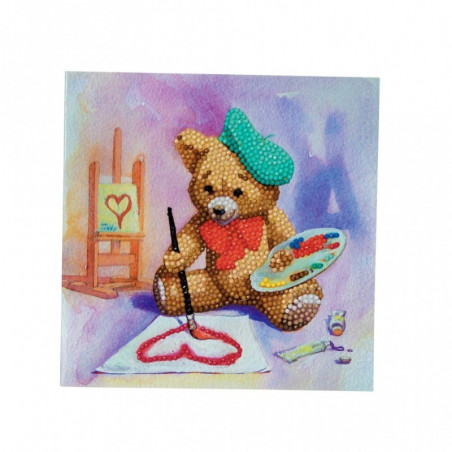 Crystal Card Kit Teddy