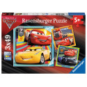 Pussel AT Cars 3 3x49p