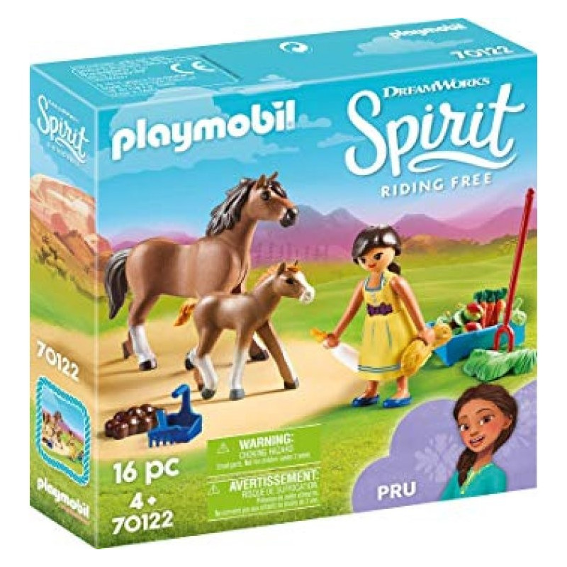 Playmo 70122 Pru with Horse and Foal