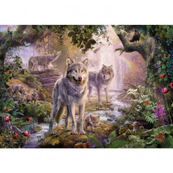 Pussel Ravensburger Summer Wolves 1000p