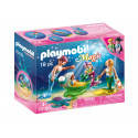 Playmobil 70100 Family with shell stroller