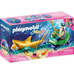 Playmobil 70097 King of the Sea with Shark Carriage