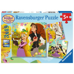 Pussel Tangled 3x49p