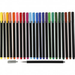 Colortime Fineliner Tusch, spets 0,6-0,7mm mixade