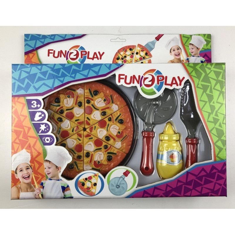 FUN2PLAY, Funny food Pizza set