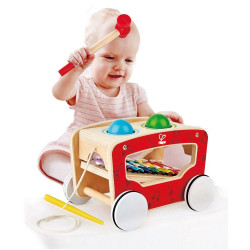 Hape Pull along activity wagon