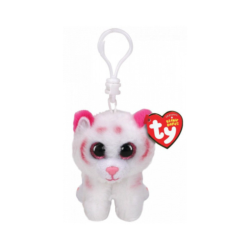 TY Beanie Boos TABOR - pink/white tiger clip