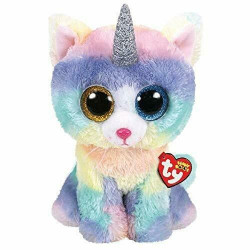 TY Beanie Boos HEATHER - cat with horn large