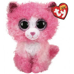 TY Beanie Boos REAGAN - cat with pink curly hair reg