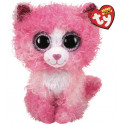 TY Beanie Boos REAGAN - cat with pink curly hair med