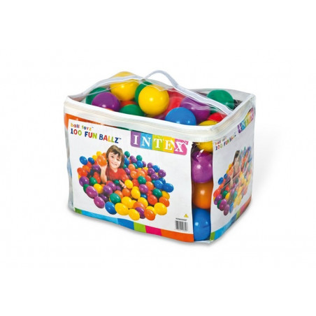 INTEX Fun Ballz, 100 Pcs, 8 Cm.
