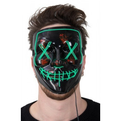 LED MASK HORROR GREEN