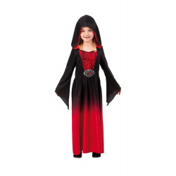 RED DRESS WITH HOOD CHILDRENS 122-134