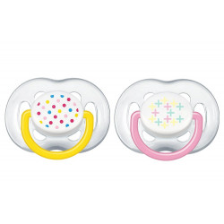 Soother Freeflow 618m 2pack