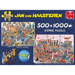 Pussel 2in1 500+1000bit. JvH Let´s party