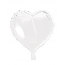 Foile Balloon Heart White 46cm