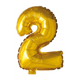 Foil Balloon Number 2 Gold 41cm