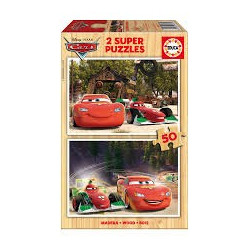 Pussel Cars 2x50bitar Wood