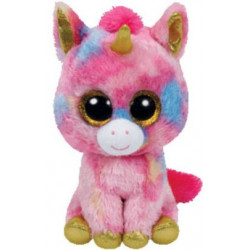 TY Beanie Boos FANTASIA - Multicolor Unicorn Med.