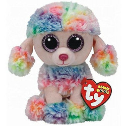 TY Beanie Boos RAINBOW - Multicolor Poodle Regular