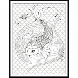 Målarposter Koi Fish