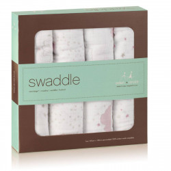 Classic swaddle 4-pack lovely 120x120cm