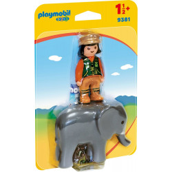 Playmobil 9381 Zookeeper with Elephant