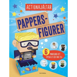 Pappersfigurer Actionhjältar