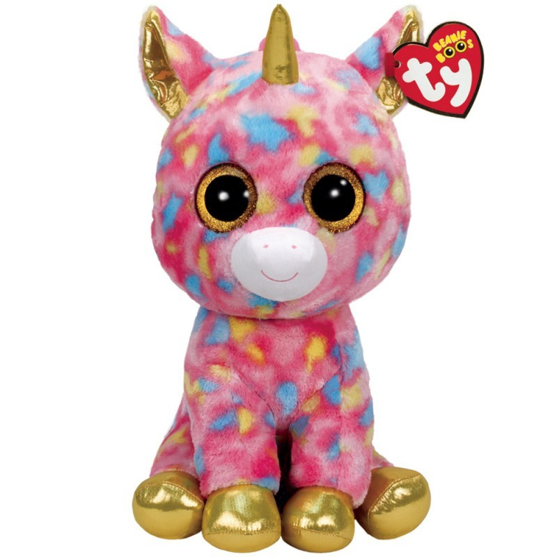 TY Beanie Boos FANTASIA Multicolor Unicorn XL