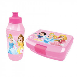 Princess lunch box & bottle 2pcs