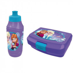 Frozen lunch box & bottle 2pcs