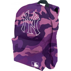 NY YANKEES lila camouflage, w/white outlined logo